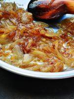 Receta de cebolla caramelizada con manzana