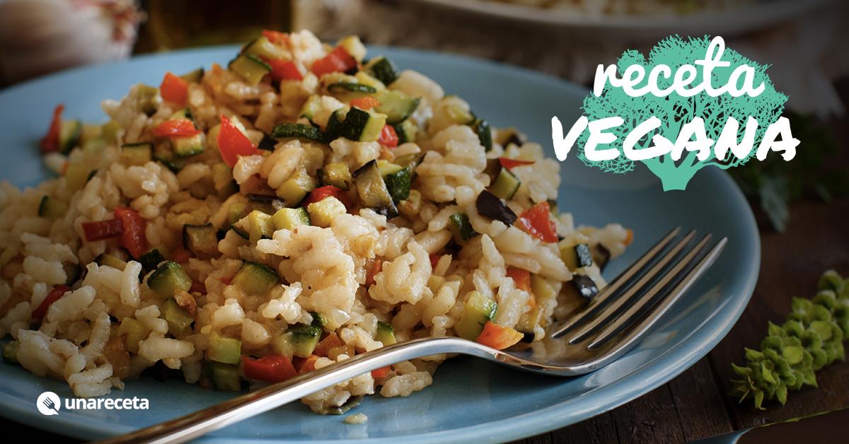 Receta de risotto de verduras for Como cocinar risotto