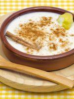 Receta de arroz con leche y miel