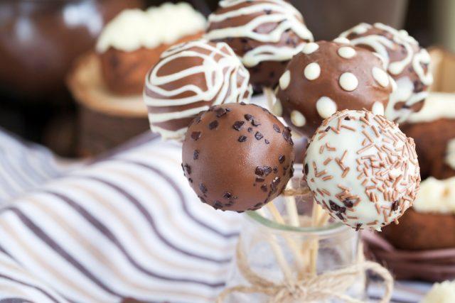Receta de cake pops con brownie