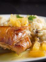 Receta de pollo al horno con piña