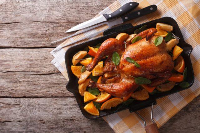 Receta de pollo asado con verduras