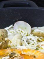 Receta de merluza al horno con gulas