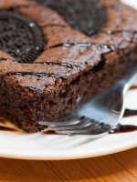 Receta de brownie con oreo