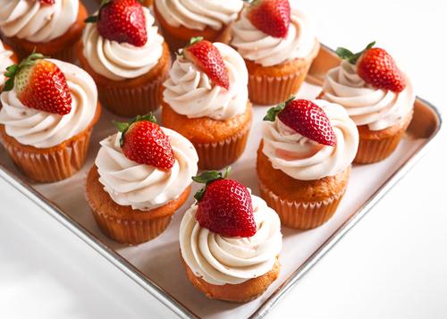 Receta de cupcakes de fresa