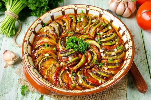 Receta de ratatouille con verduras