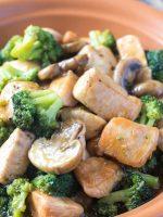 Receta de brócoli con champiñones