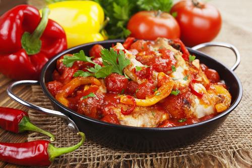 Receta de pollo en salsa de tomate