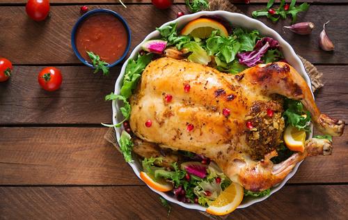 Receta de pollo relleno al horno