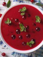 Receta de gazpacho de cerezas