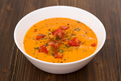 Receta de salmorejo light