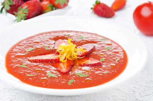 Receta de salmorejo de fresa