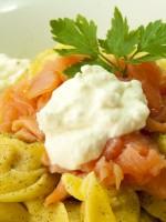 Receta de tortellini con salmon