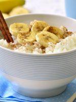 Receta de arroz con leche y platano