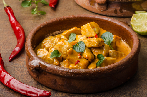 Receta de pollo al curry con coco