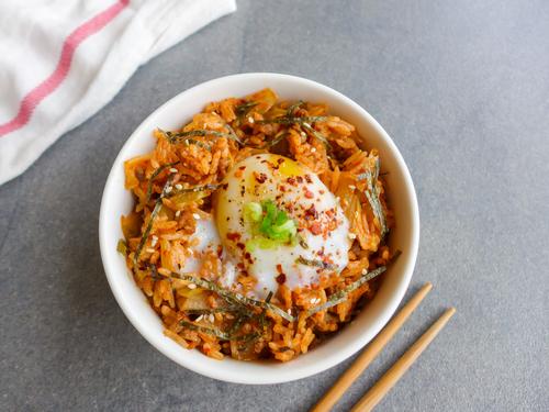 Receta de arroz salteado con kimchi