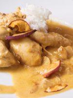 Receta de pollo al curry con manzana