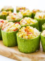 Receta de calabacines rellenos con arroz