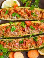 Receta de calabacines rellenos con atún