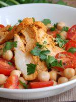 Receta de ensalada de garbanzos con pollo