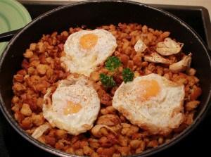 Receta de migas con huevo