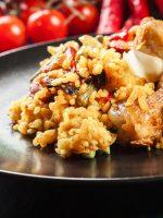 Receta de arroz con pollo y chorizo