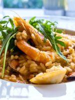Receta de arroz con pollo y gambas
