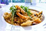 arroz con pollo y gambas