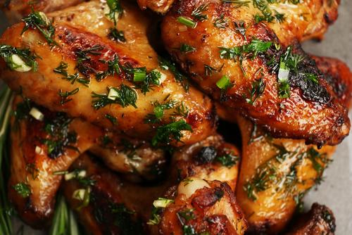 Recetas De Cocina Pollo Al Ajillo | Receta De Alitas De Pollo Al Ajillo Al Horno Unareceta Com