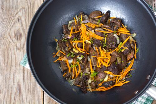 Receta de wok de setas