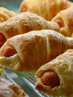 Receta de croissant con salchichas