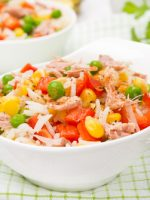 Receta de ensalada de arroz con verdura