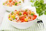 ensalada de arroz con verdura