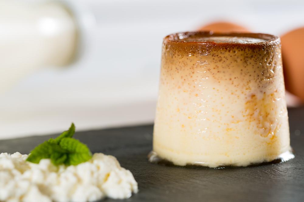 Receta de flan de huevo y queso - Flan de huevo al bano maria en olla express ...