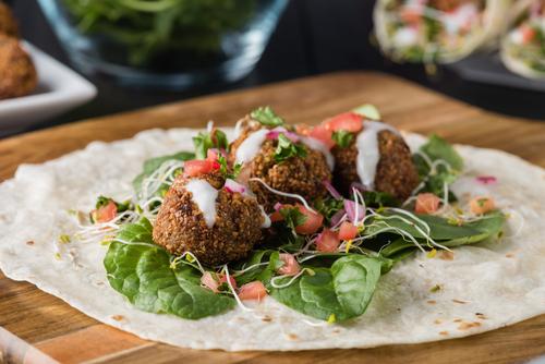 Receta de kebab de falafel