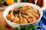 muslos de pollo al horno con manzana
