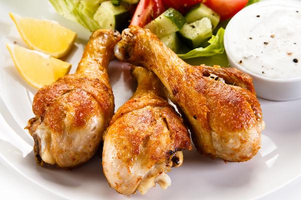 Receta de muslos de pollo al horno light
