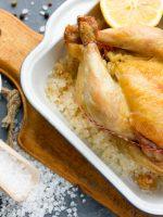 Receta de pollo al horno a la sal
