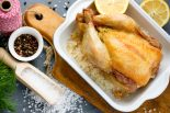 pollo al horno a la sal