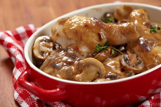 Recetas De Cocina Pollo En Salsa | Receta De Pollo Al Horno Con Salsa De Champinones Unareceta Com
