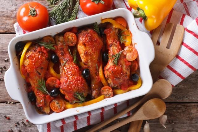 Receta de pollo al horno con salsa de tomate
