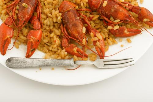 Receta de arroz con bogavante y calamares