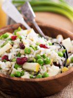 Receta de ensalada de arroz con manzana