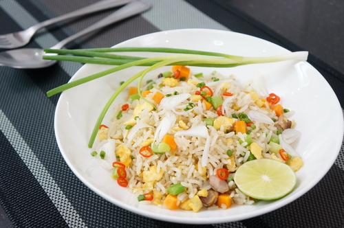 Receta de ensalada de arroz con merluza
