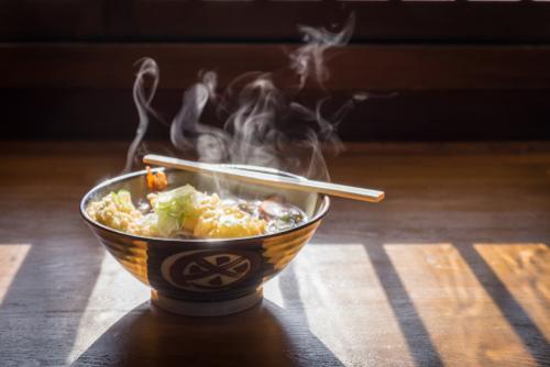 Receta de ramen de fideos de arroz