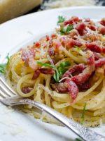 Receta de salsa carbonara a la italiana
