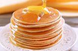 tortitas con miel y nata