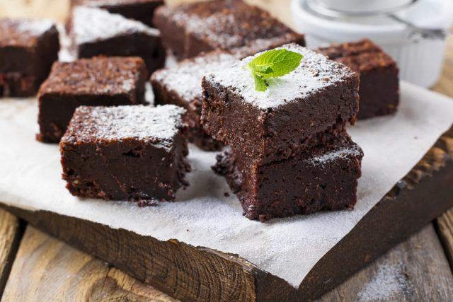 Receta de brownie sin huevo