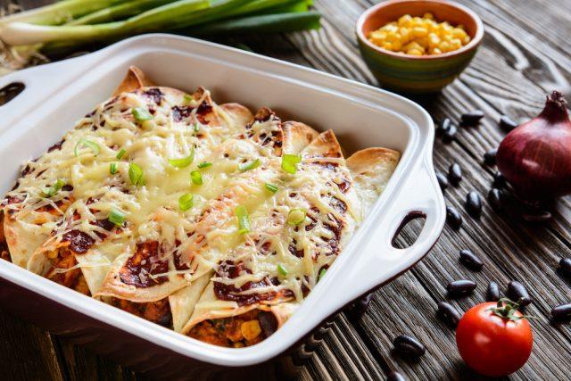 Receta de enchilada de verduras