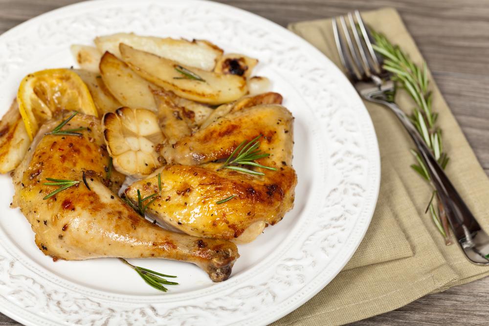 muslos de pollo al horno bajo en calorias